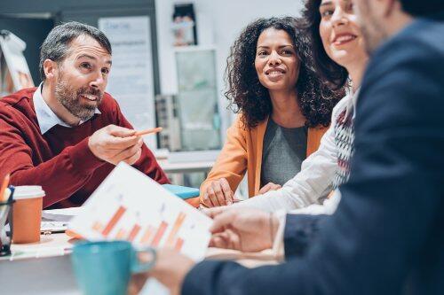 Finance team meeting for blog post