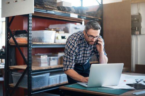 Older worker with digital engagement for blog post