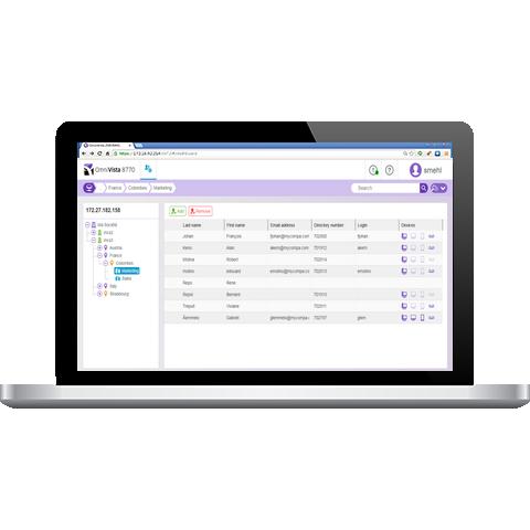 OmniVista 8770 NMS Provisioning Web Client