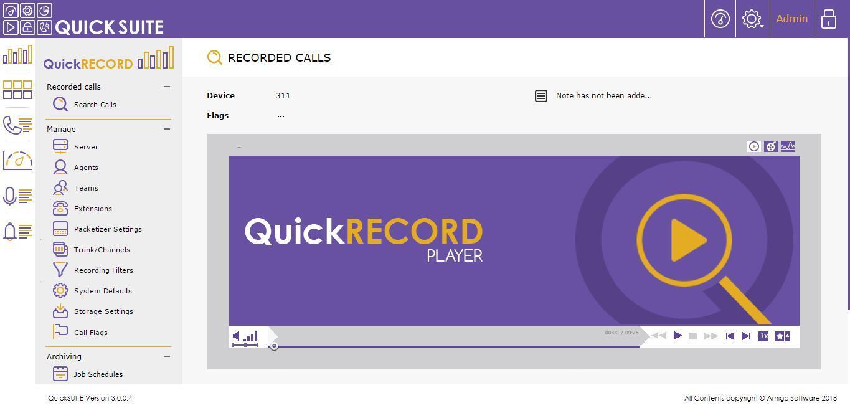Amigo QuickRecord screen1