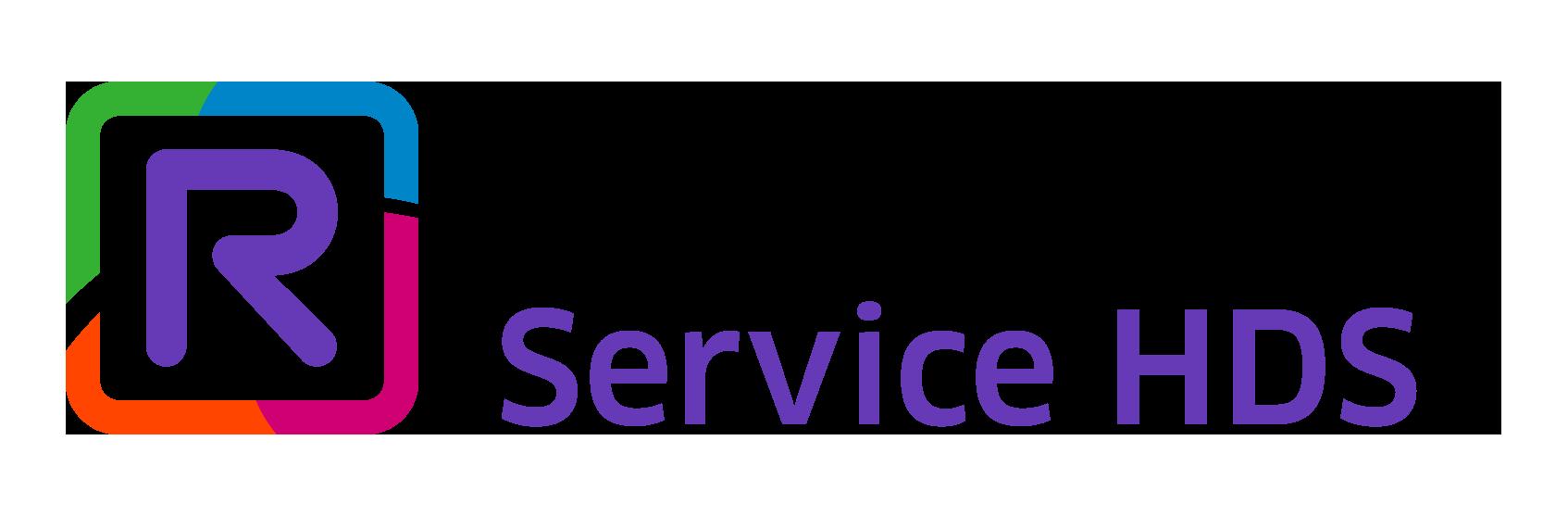 Rainbow Service HDS (purple) logo FR