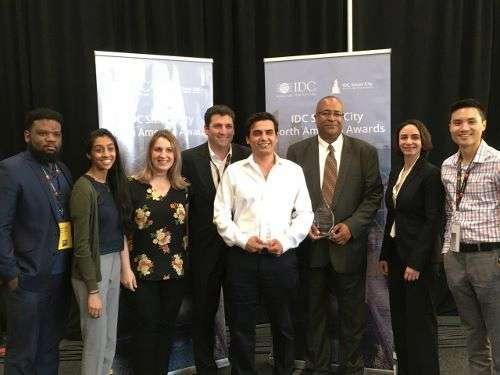 Transit Wireless IDC Smart City award photo